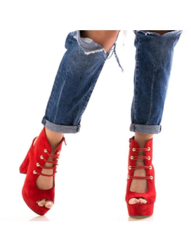 Sandale Dama CasualNice Rosu-2