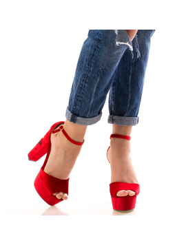 Sandale Dama RedyOne Rosu-2