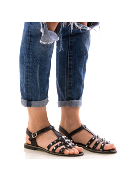 Sandale Dama CristalFront Negru Dep