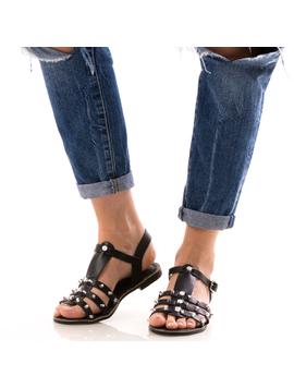 Sandale Dama CristalFront Negru Dep-2