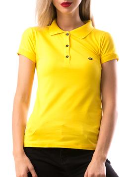 Tricou Dama CrownPolo Galben-2