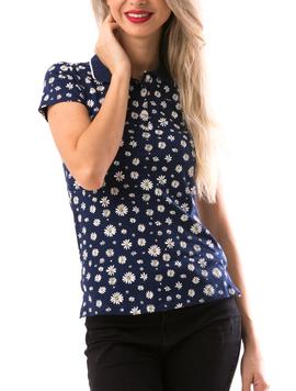 Tricou Dama VonThree Bleumarin-2