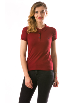 Tricou Dama CrownPolo Bordo