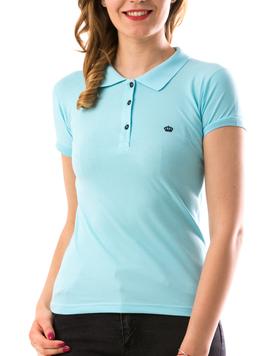 Tricou Dama CrownPolo Bleu-2