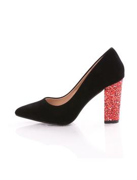 Pantofi Dama MermaidMood Negru Si Rosu