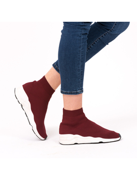 Sneakers Dama SockShoe Bordo