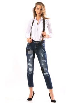 Jeans Dama CrazyBly Bleumarin