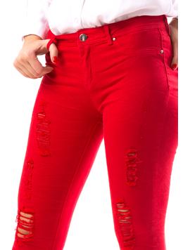 Jeans Dama TrickyPosy Rosu-2