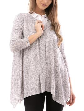 Cardigan Dama Simple2018 Gri-2