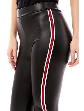 Pantalon Dama EcoLeather Negru-2