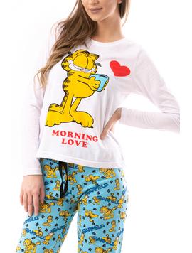 Pijama Dama GarfieldCartoon Alb-2