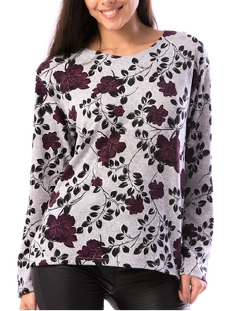 Bluza Dama ShortFlower10 Mov-2