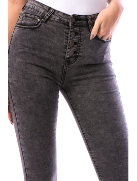 Jeans Dama Shjty67 Gri-2