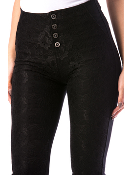 Pantaloni Dama Hly18 Negru-2