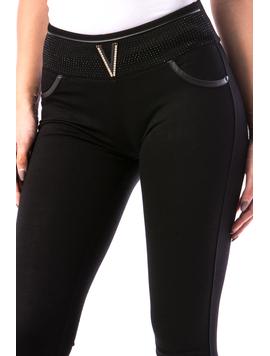 Pantaloni Dama ThreeLines20 Negru-2