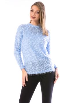 Pulover Dama Sklipsy15 Bleu