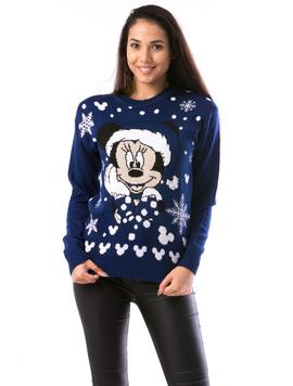 Pulover Dama ChristmasBe14 Albastru