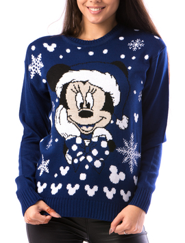 Pulover Dama ChristmasBe14 Albastru-2