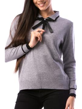 Pulover Dama SchoolTy16 Gri-2