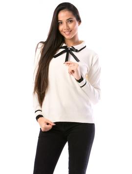 Pulover Dama SchoolTy16 Alb