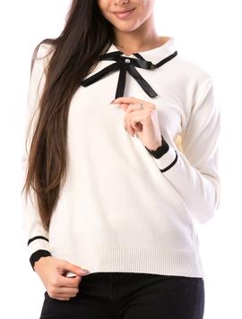 Pulover Dama SchoolTy16 Alb-2