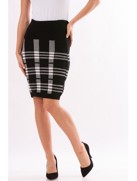 Fusta Dama NightWithPatterns Negru