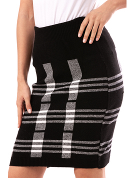 Fusta Dama NightWithPatterns Negru-2