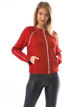 Bluza Dama WhiteZipper12 Rosu
