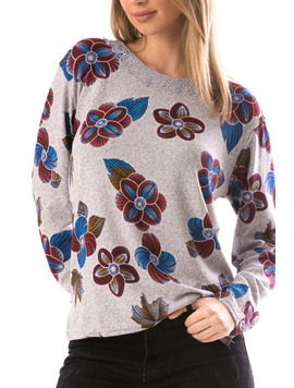 Bluza Dama CollarOneLace15 Gri-2