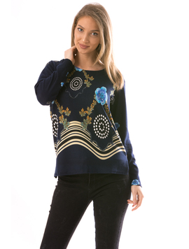 Bluza Dama CollarSimple10 Bleumarin