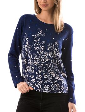 Bluza Dama CollarSimple21 Bleumarin-2