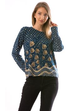 Bluza Dama CollarSimple23 Turcoaz