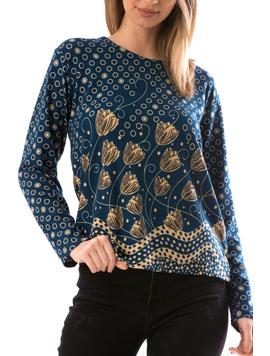 Bluza Dama CollarSimple23 Turcoaz-2