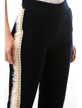 Pantaloni Dama PuffyThread Bleumarin-2
