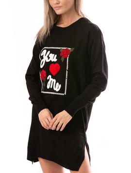 Rochie Dama LoveMe Negru Rosu Alb Galben-2