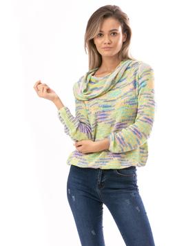 Pulover Dama RainbowCrazy Galben Verde Albastru Si Roz