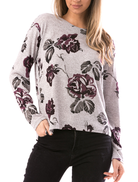 Bluza Dama ShortFlower Mov-2