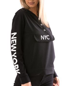 Hanorac Dama NewNy12 Negru-2