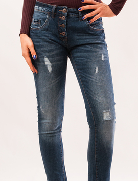Jeans Dama Boyfriend Wrap It Up Albastru-2