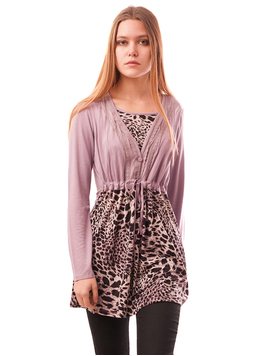 Bluza Dama Cu Model Animal Print Buttons Lila