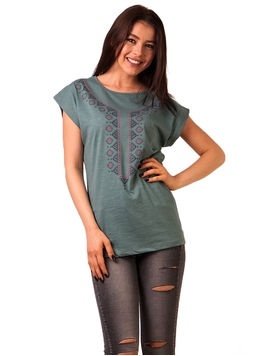 Bluza Dama Imprimeu Traditional Home Verde