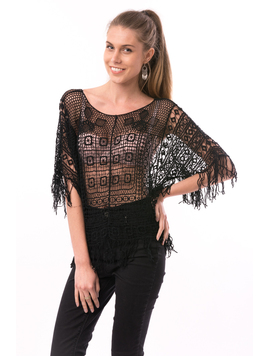 Bluza Dama Total Embroidery Design Negru