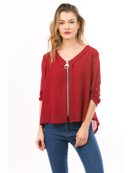 Bluza Dama SoftZipper Bordo
