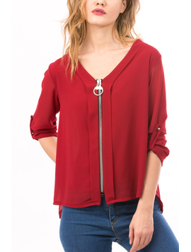 Bluza Dama SoftZipper Bordo-2