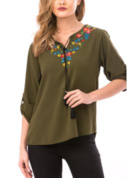 Bluza Dama FloralChest Kaki-2
