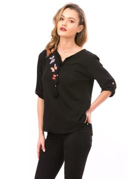 Bluza Dama ButterflyFlower Negru