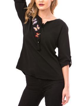 Bluza Dama ButterflyFlower Negru-2