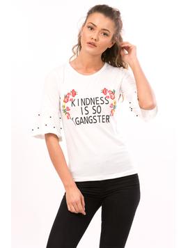 Bluza Dama GangsterGirl Alb Rosu Si Verde