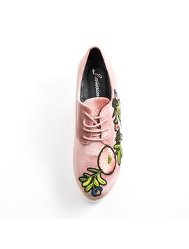 Pantofi Dama Cu Platforma Si Flori Anabella Roz-2