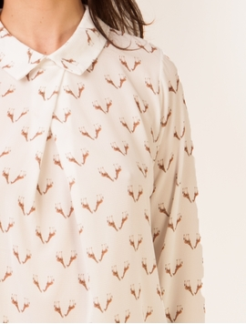 Camasa Giraffes On Me White-2
